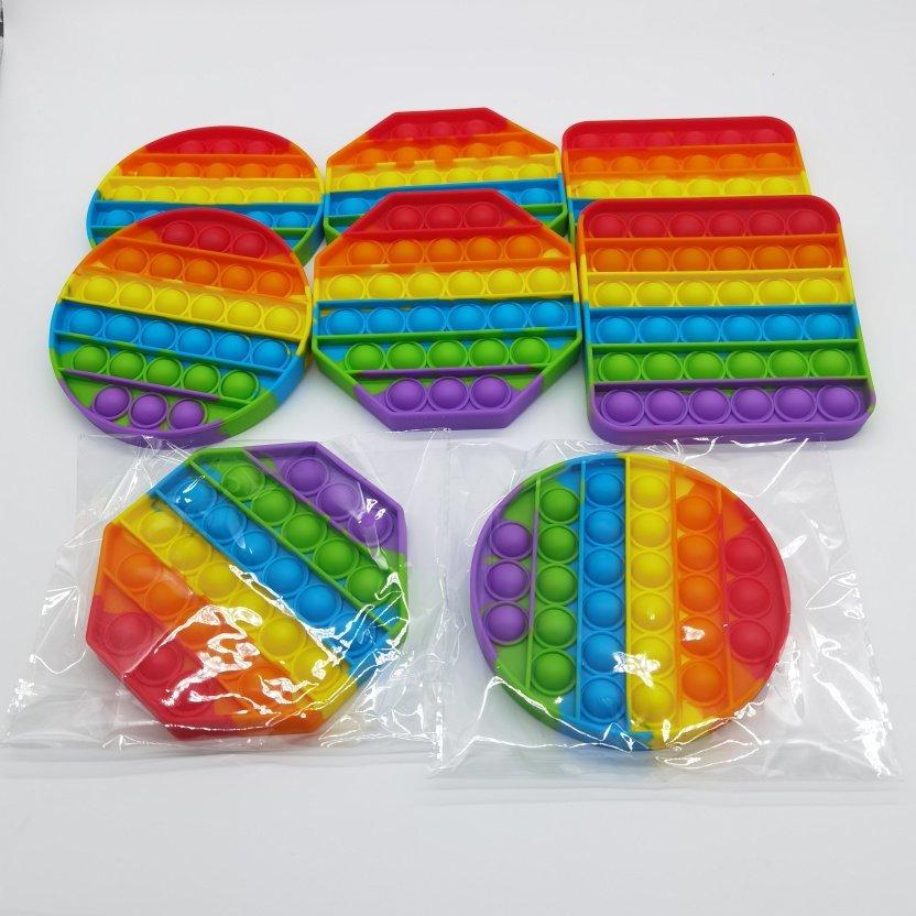 Bubble Popper Fidget Toy - Rainbow bubble popper sensory fidget toy in package