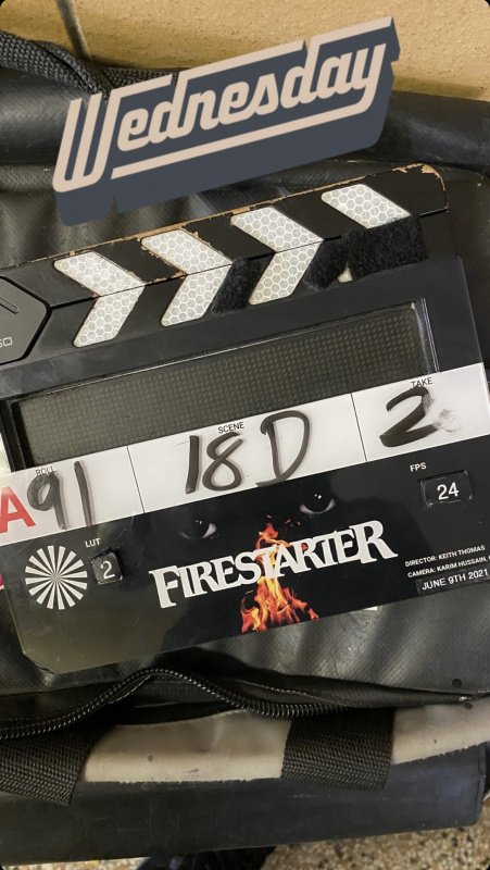 Firestarter clapperboard