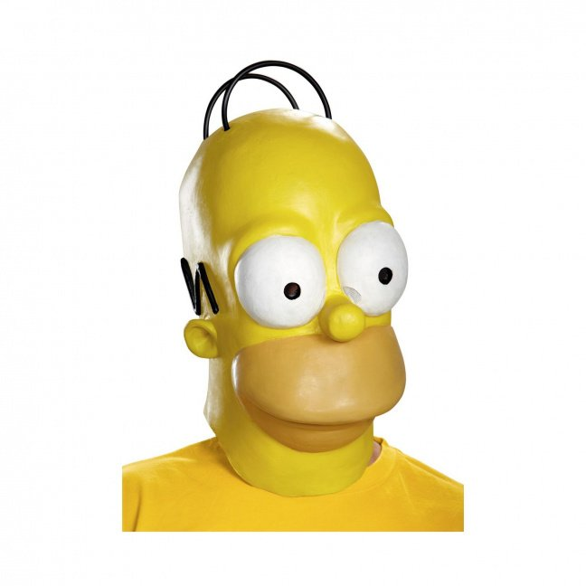 Realistic Homer Simpson mask - The Simpsons Homer Adult Roleplay Mask
