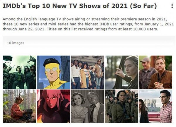 IMDb Announces Top New TV Shows of the Year