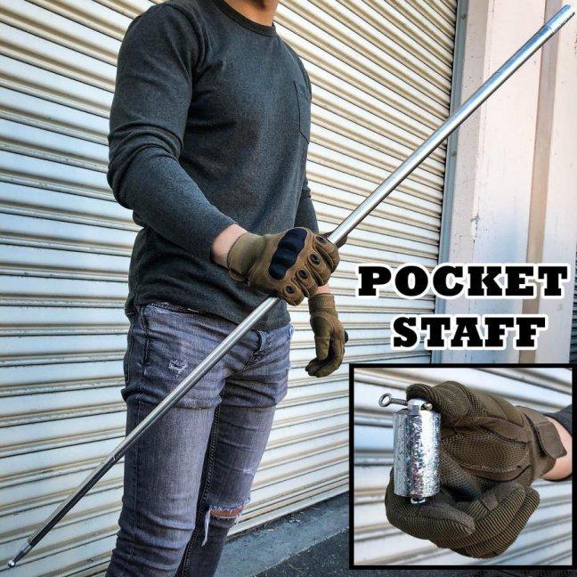 Metal collapsing trick cane