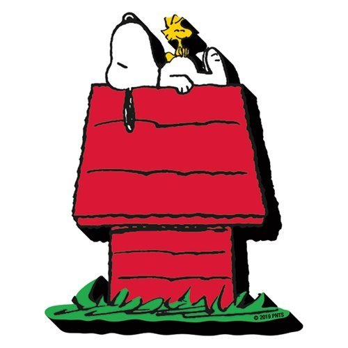 Peanuts Snoopy on Dog House Funky Chunky Magnet