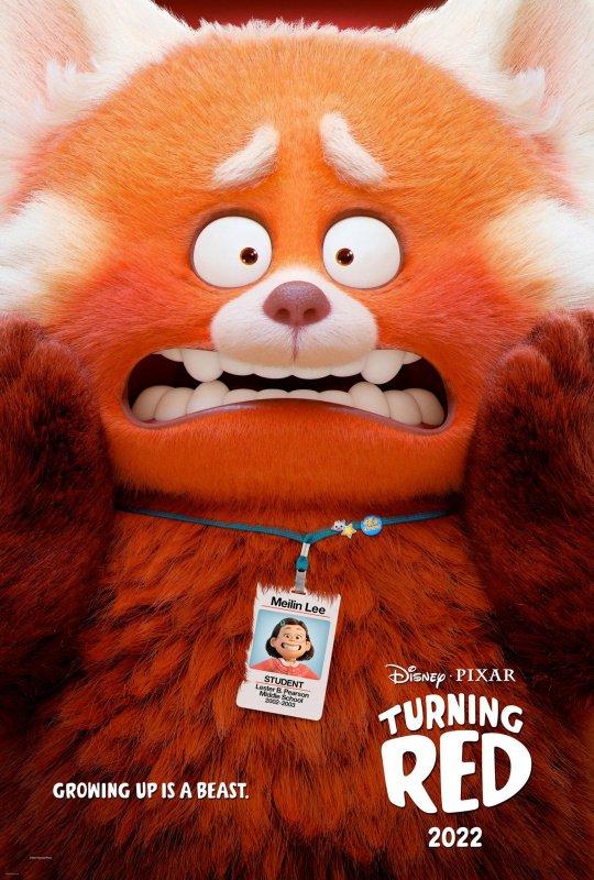 Pixar's Turning Red teaser poster