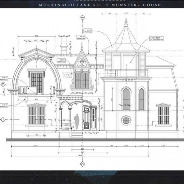 Rob Zombie's Mockingbird Lane Set Munsters House