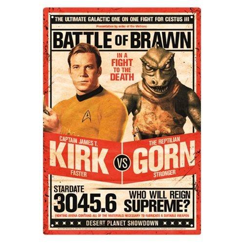 Star Trek Kirk vs. Gorn Metal Sign