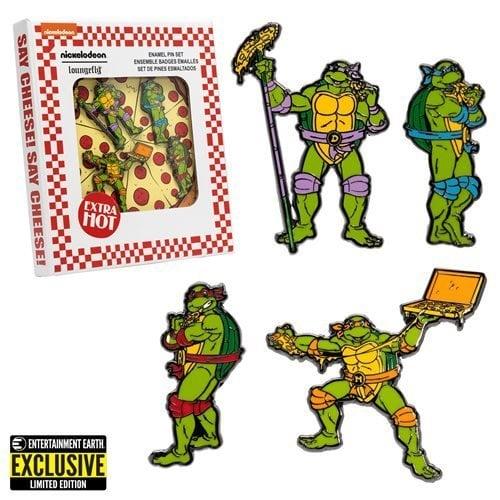 Teenage Mutant Ninja Turtles Enamel Pin 4-Pack - Entertainment Earth Exclusive