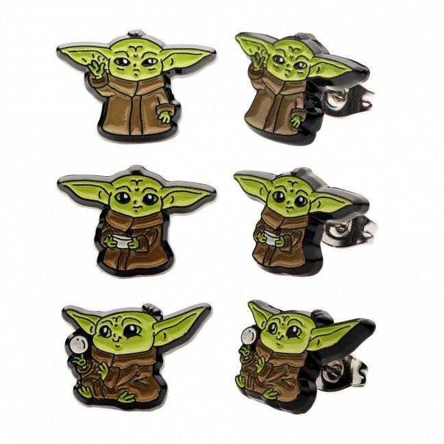 The Mandalorian The Child stud earrings 3-pack - Baby Yoda earrings