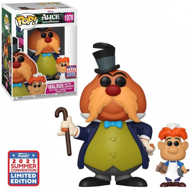 Convention Exclusive Alice in Wonderland Walrus and the Carpenter Pop Vinyl Figure and Buddy - 2021 Convention Exclusive