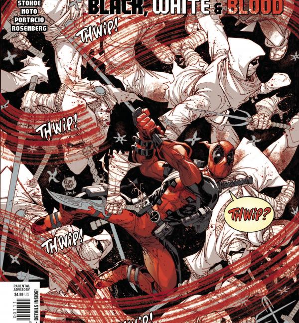 Deadpool: Black, White & Blood #1 - Adam Kubert main cover