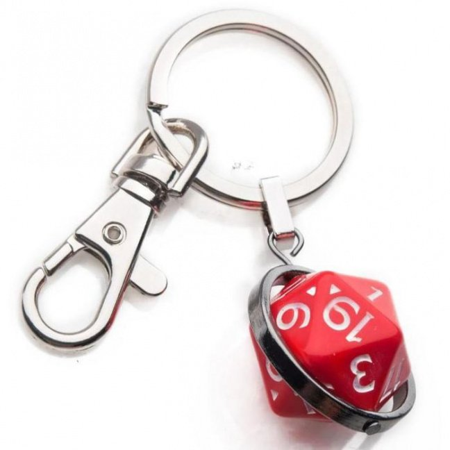 Dungeons and Dragons Dice Spinning Keychain