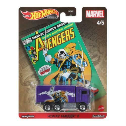 Hot Wheels Pop Culture 2021 Marvel Vehicle - Heavy Metal HiWay Hauler 2 (Avengers)