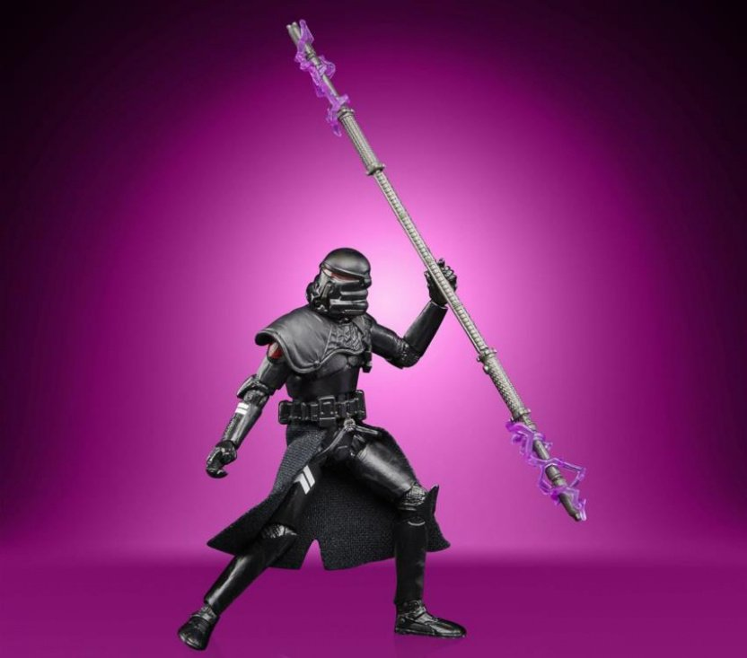 Star Wars The Vintage Collection Gaming Greats Electrostaff Purge Trooper Action Figure - hold staff