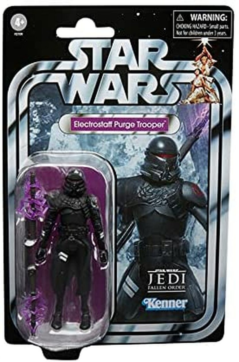 Star Wars The Vintage Collection Gaming Greats Electrostaff Purge Trooper Action Figure -  in package