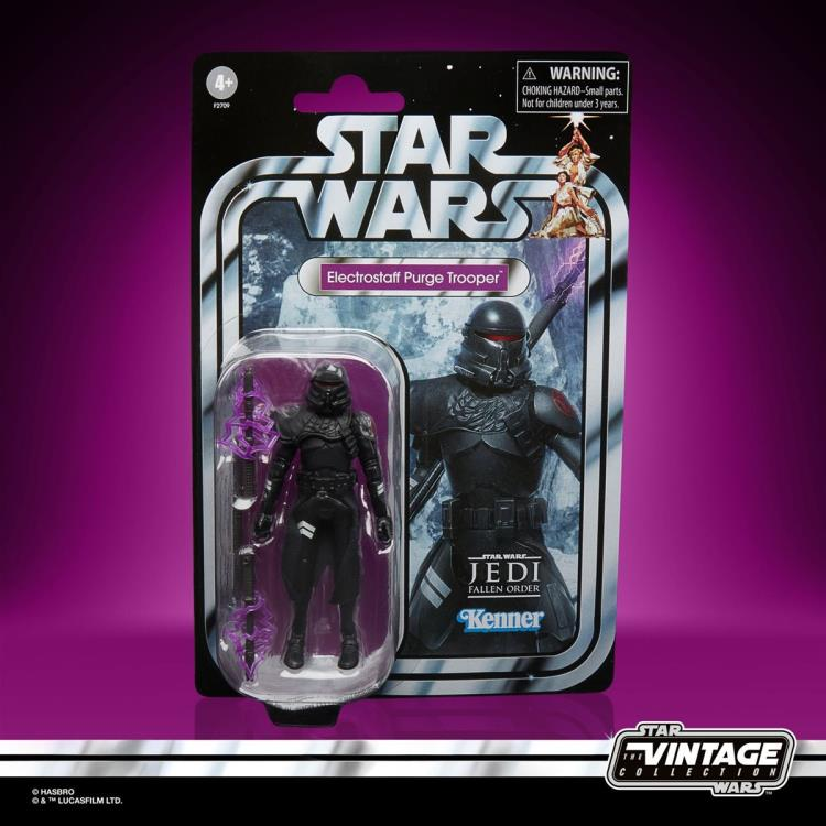 Star Wars The Vintage Collection Gaming Greats Electrostaff Purge Trooper Action Figure - package