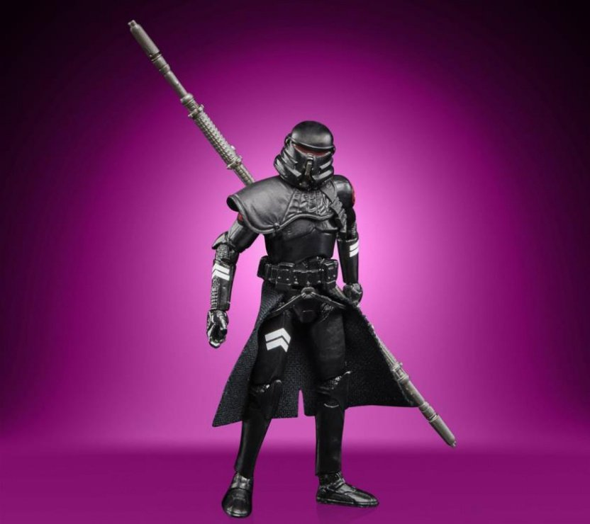 Star Wars The Vintage Collection Gaming Greats Electrostaff Purge Trooper Action Figure - sword back
