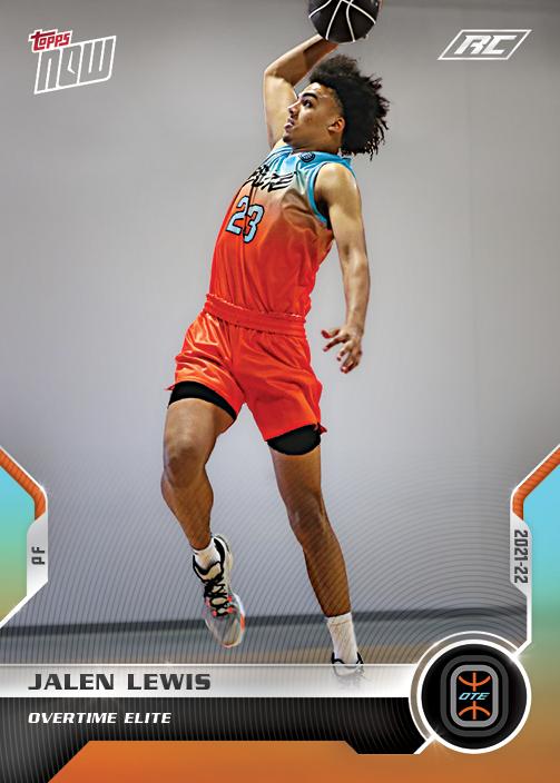 Jalen Lewis - 2021 Overtime Elite TOPPS NOW® Debut Card D-1