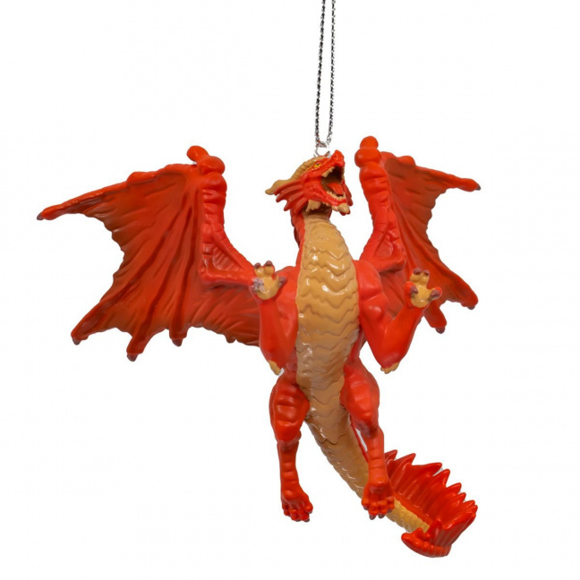 Dungeons and Dragons Dragon ornament - D&D Red Dragon 3 1/2-inch resin ornament