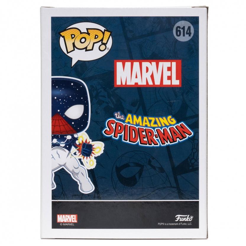 Spider-Man Captain Universe Funko Pop Bobblehead Vinyl Figure #614 box back