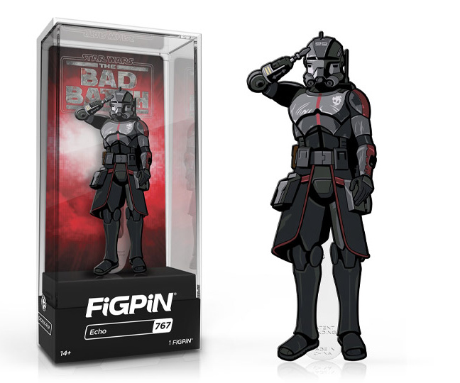 Star Wars: Bad Batch Echo FigPin Classic 3-inch pin #767 with box
