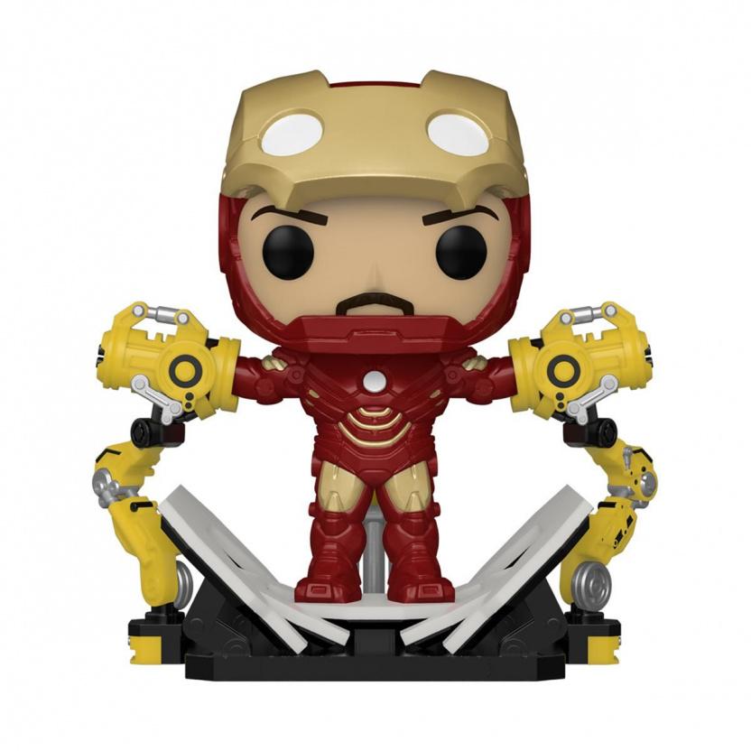 Iron Man Mark IV with Suit-Up Gantry Glow-in-the-Dark 6-Inch Deluxe Funko Pop! Vinyl Figure - Exclusive
