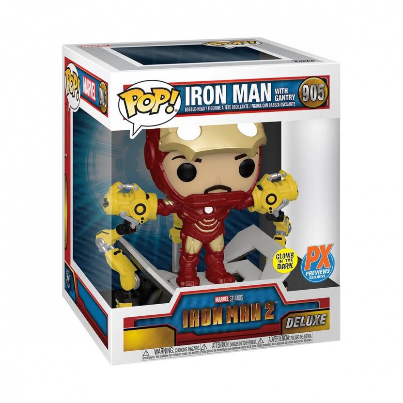 Iron Man Mark IV with Suit-Up Gantry Glow-in-the-Dark 6-Inch Deluxe Funko Pop! Vinyl Figure - in box