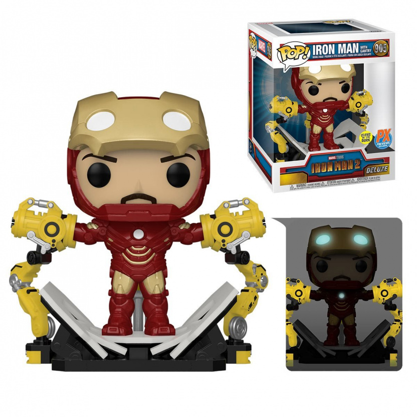 Iron Man Mark IV with Suit-Up Gantry Glow-in-the-Dark 6-Inch Deluxe Funko Pop! Vinyl Figure - with box
