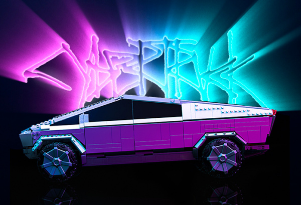 Mattel MEGA Cybertruck display