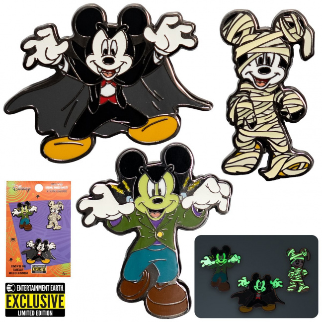 Mickey Mouse Halloween Mickeys Enamel Pin 3-Pack Exclusive - all with package