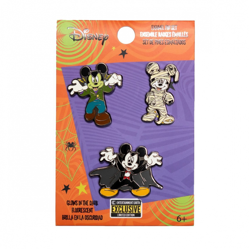 Mickey Mouse Halloween Mickeys Enamel Pin 3-Pack Exclusive - in package