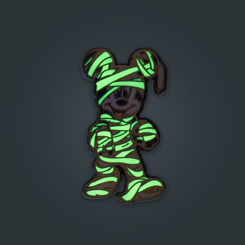 Mickey Mouse Halloween Mickeys Enamel Pin 3-Pack Exclusive - mummy glowing