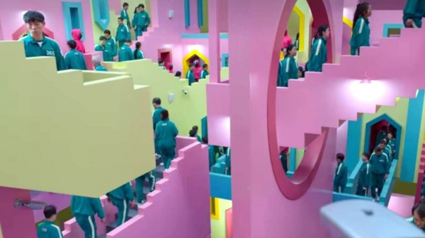 Squid Game - Escher staircases