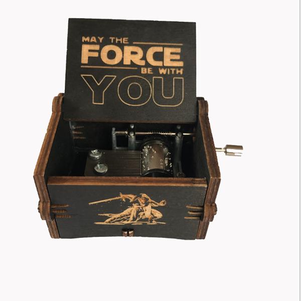 Wooden hand-crank Geek music box - Star Wars